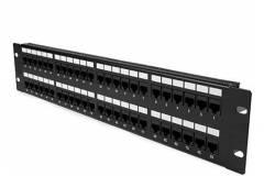 Patchera 48 Puertos MYConnection! MYC-48P5ECM CAT5E con Organizador de Cable