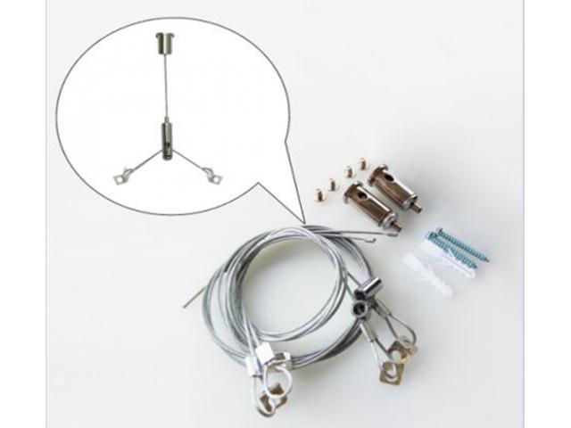 Linga de Acero Para Panel o Artefactos LED