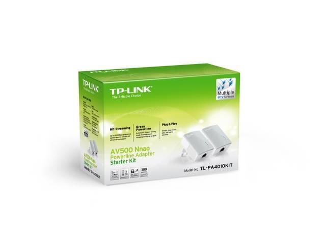 Adaptadores de Red a Corriente AV500 TP-LINK TL-PA4010 Nano Kit Powerline 500 Mbps (KIT de 2 Unidades)